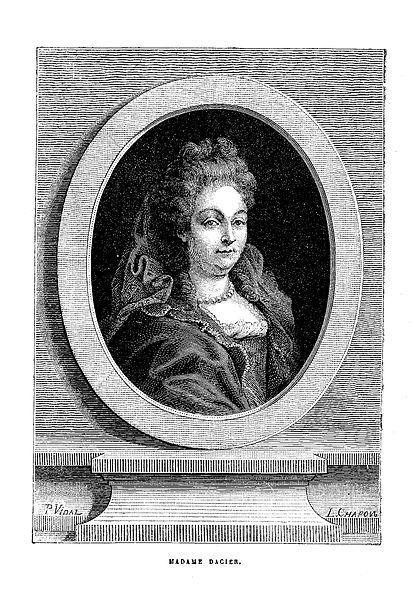 Anne Le Fèvre, épouse Dacier by Pierre Bonnefont. Public domain via Wikimedia Commons.