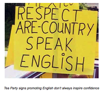 The English Language Unity Act: Big Government Only a Tea Partier