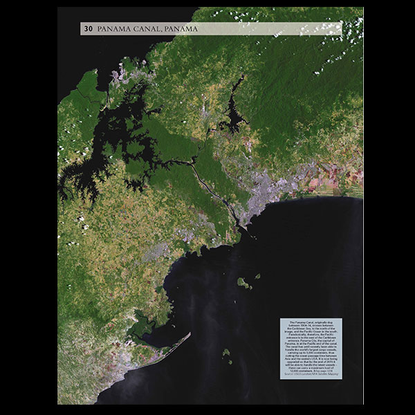 Maps of the world oupblog satellite image of the panama canal gumiabroncs Images