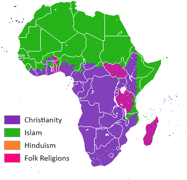 Facts On African Religions OUPblog - Religion map of world 2014