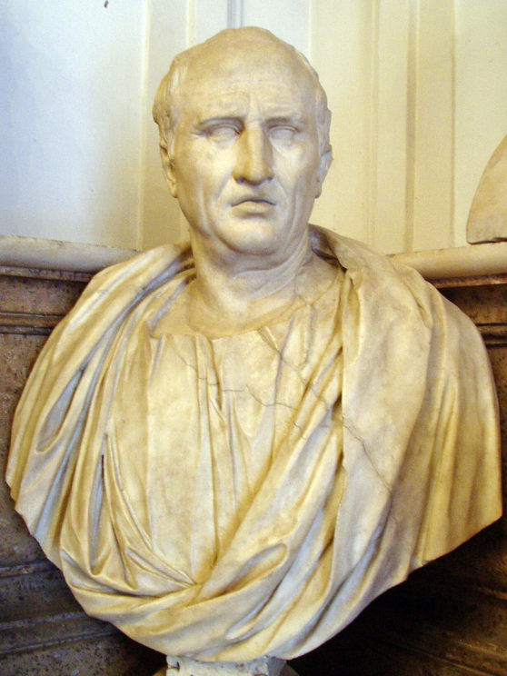 """Bust of Cicero, Musei Capitolini, Rome, Half of 1st century AD"" by Glauco92. Creative Commons via Wikimedia Commons"