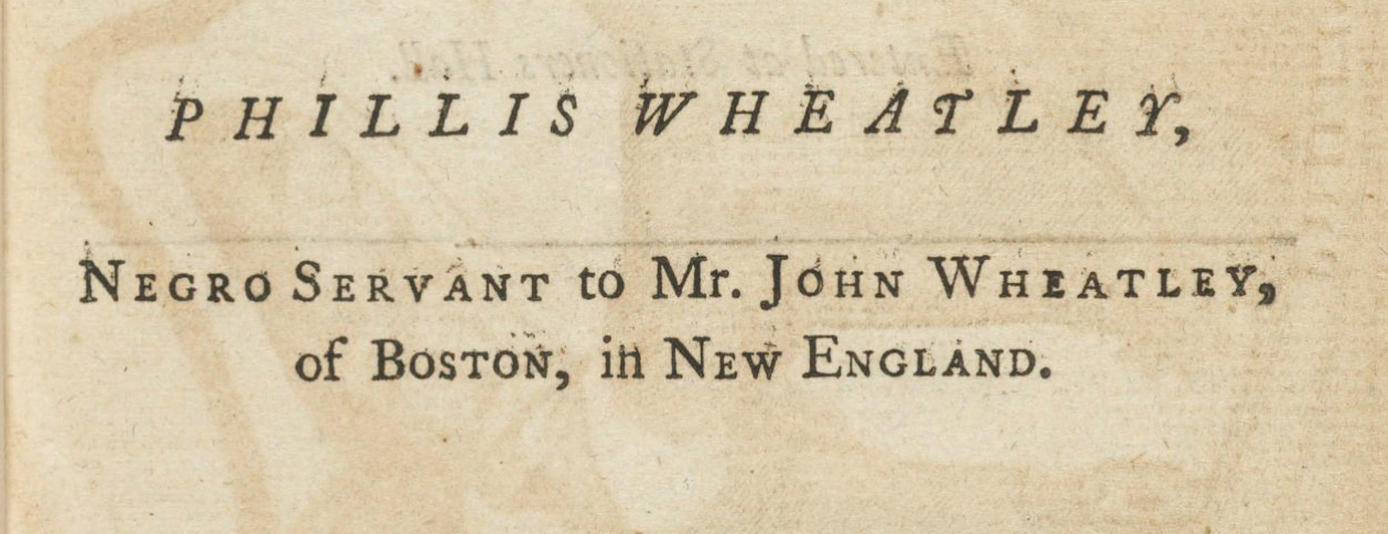 phillis wheatley facts