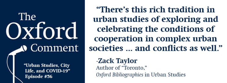 Urban Studies, city life, and COVID-19 [podcast]
